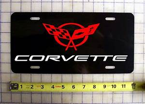 Chevy Corvette Custom License Plate    Car Tag