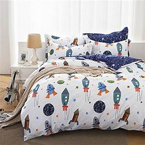 Boys galaxy space bedding set kids bedding set duvet cover for Full size bedding sets for toddlers