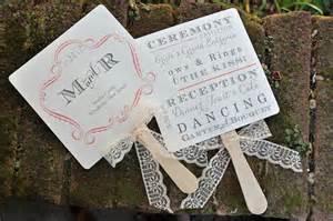 diy wedding ceremony program fans abanicos originales para bodas las mejores ideas