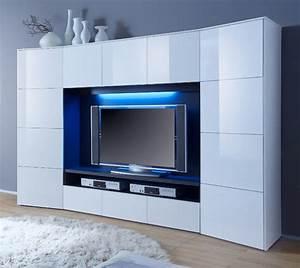 Moderne Wohnwand Hochglanz : wohnwand wei hochglanz ~ Sanjose-hotels-ca.com Haus und Dekorationen