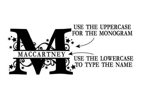 pn stars swirls monogram banner font  illustration ink thehungryjpegcom