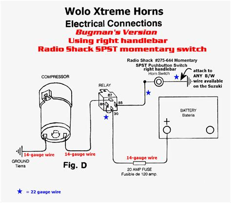 unique wiring diagram for air horn rib relay in