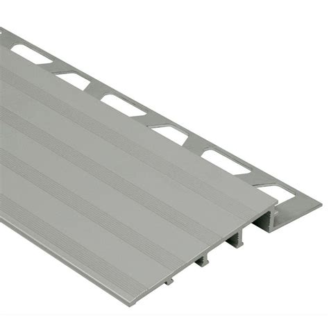 Schluter Tile Edging Trim by Schluter Reno R Satin Anodized Aluminum 3 4 In X 8 Ft