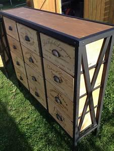Meuble Bois Fer : les 47 meilleures images du tableau meuble industriel design vintage fer metal metallique et ~ Melissatoandfro.com Idées de Décoration
