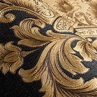 Black and Gold Wallpaper Metallic