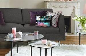 Coussin Gris Et Blanc : personnaliser un canap gris fonc avec des coussins ~ Melissatoandfro.com Idées de Décoration