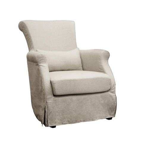 Modern Chair Slipcovers Chair Slipcovers Carradine Beige Linen Modern