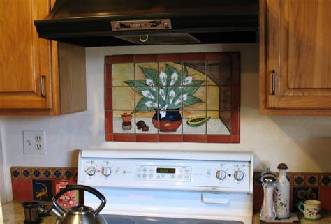 mural tiles for kitchen decor mexican tile murals rooster tedx designs the adorable 7052