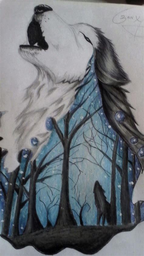Practicando dibujos de lobos Lobo dibujo a lapiz