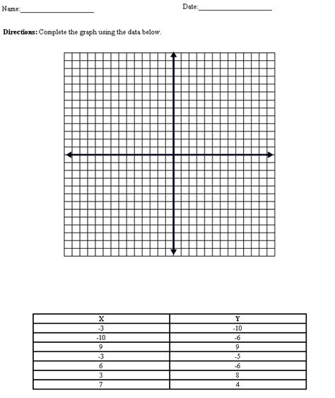 Printable Coordinate Graphing Worksheets