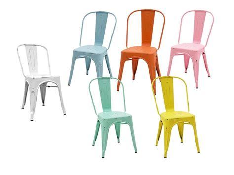 Sedie colorate in metallo (lamiera) PREZZI OUTLET