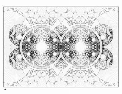 Fractal Coloring Books Zoom Pomegranate Pencils Cards