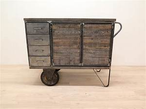 Vintage Industrial Möbel : rollwagen industrial m bel mit schubladen antik ~ Sanjose-hotels-ca.com Haus und Dekorationen