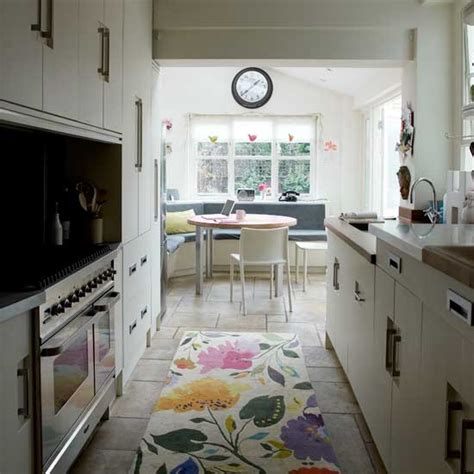 Narrow Modern Kitchen  Kitchen Decorating Ideas  Small