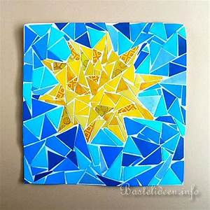 Sommer Basteln Kinder : basteln im sommer mit kindern papier mosaik bild mit sonne ~ Orissabook.com Haus und Dekorationen