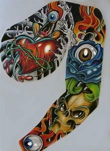 tattoo sleeve better pic by chrisxart on DeviantArt