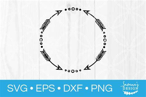 arrow frame monogram svg illustrations creative market
