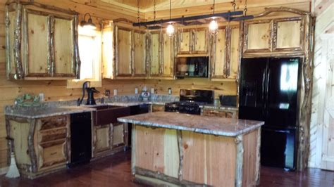 aspen log cabinets  furniture traditional kitchen