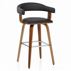 Chaise Bar Bois : chaise de bar faux cuir bois ontario monde du tabouret ~ Teatrodelosmanantiales.com Idées de Décoration