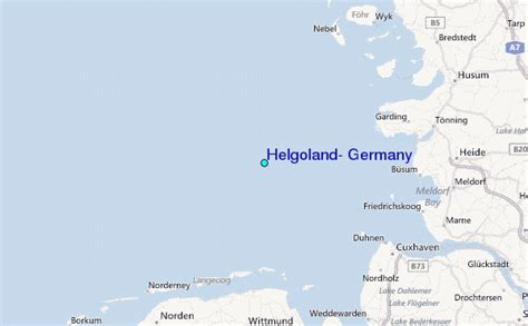 helgoland germany tide station location guide