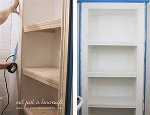 Bathroom Shelves! Not JUST A Housewife