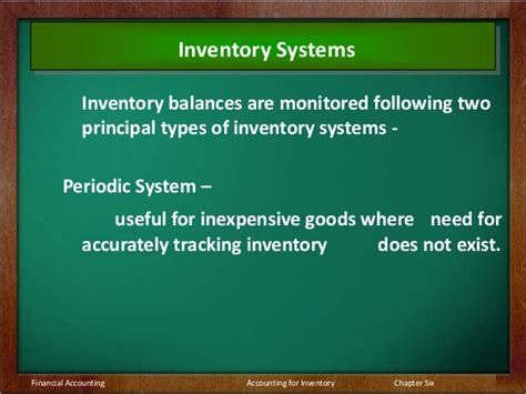 Types Of Inventory Systems Perpetual