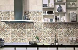 credence cuisine carreaux de ciment patchwork et artistique With carreaux ciment maroc