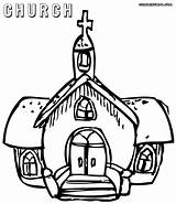 Church Coloring Pages Building Sheet Colorings sketch template