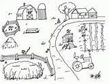 Coloring Pages Farm Preschool Preschoolers Recognition Develop Creativity Ages Skills Focus Motor Fun Way sketch template