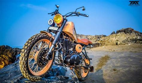 Modified Royal Enfield Scrambler Motorcycle From Maratha