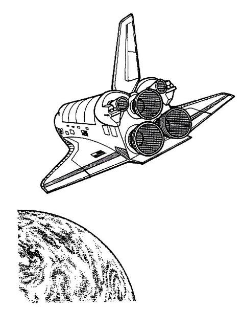 Space Shuttle Kleurplaat by N 25 Kleurplaten Ruimtevaart