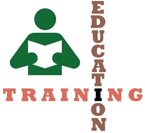 difference  training  education  comparison