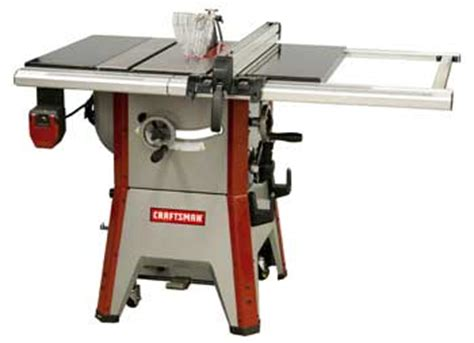 professional table saw reviews craftsman professional 10 contractor table saw