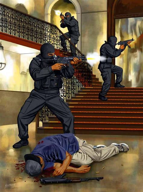 troops  indias national security guards conducting