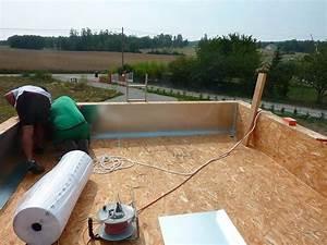 Maison Ossature Bois Toit Plat : isolation toit plat deniscohen ~ Melissatoandfro.com Idées de Décoration