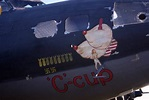 """""""C-cup"""" nose art on a WWII B-17 bomber. 