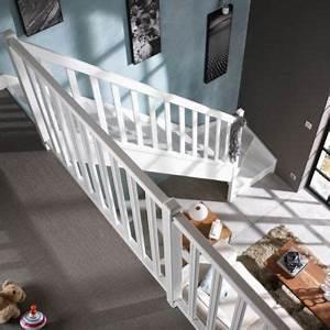 Escalier 1 4 Tournant Gauche : escalier 1 4 tournant bas sapin avec rampe mont gauche castorama ~ Dode.kayakingforconservation.com Idées de Décoration
