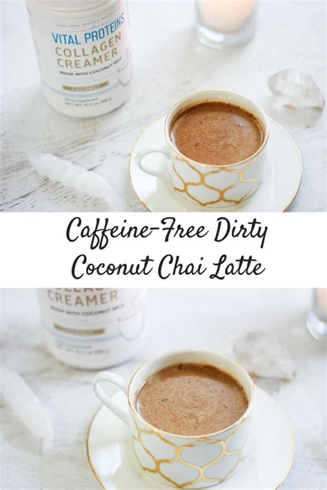 It's a shot of espresso mixed into a spiced chai tea (or masala chai) with steamed milk. Caffeine-Free Dirty Coconut Chai Latte | Christina Rice Wellness