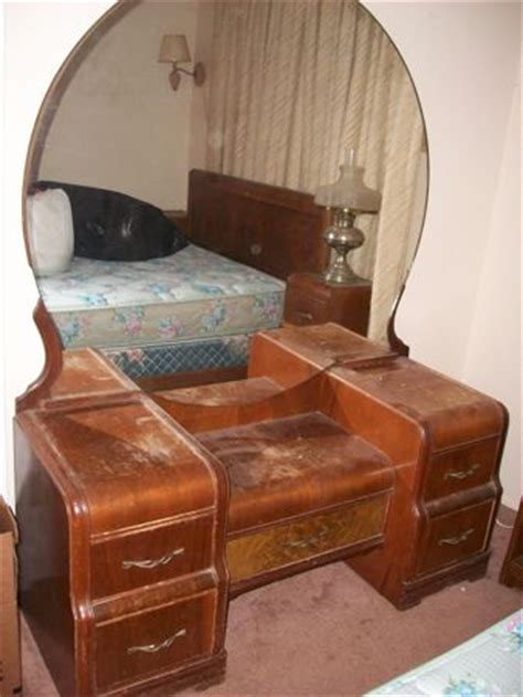 waterfall vanity dresser set what s it worth appraisal for waterfall bedroom set