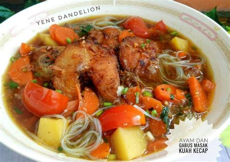 Mendengarkan resep sayur ikan gabus pucung bahan gabus pucung cara membuat gabus pucung. Resep Ayam dan Ikan Gabus (Haruan) Masak Kuah Kecap # ...