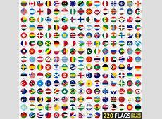 220个世界各国国旗圆形图标矢量素材 设计之家