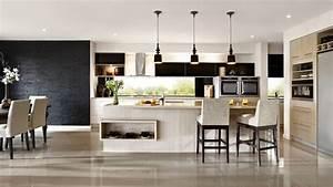 Cuisine Noir Et Blanc : interieur noir blanc cuisine americaine picslovin ~ Melissatoandfro.com Idées de Décoration
