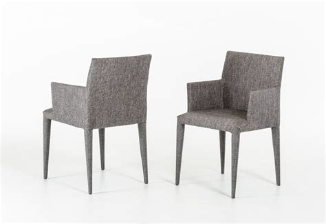 modrest medford mid century grey fabric dining chair