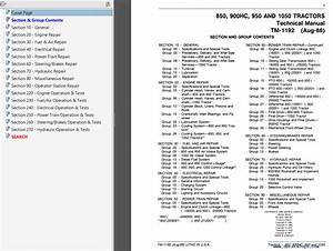 John Deere 850 900hc 950 1050 Tractors Pdf Technical Manual