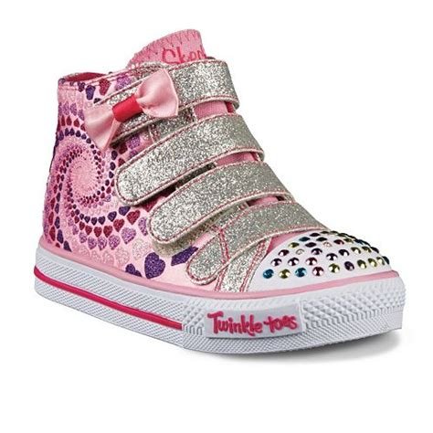 skechers kids light up shoes skechers twinkle toes shuffles lil skippers kids pink
