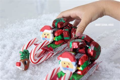 candy cane skeigh xmas craft how to make a sleigh smart school house