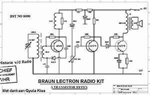 Braun 8090 Lectron Transistor Radio Kit Sch Service Manual