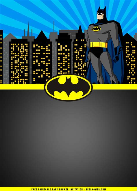 printable batman birthday party invitation