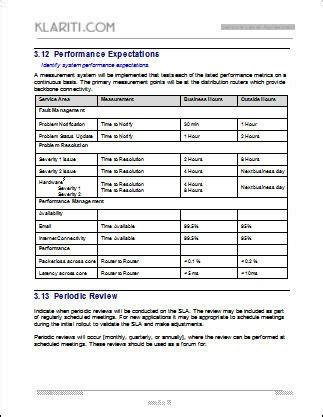 sla template service level agreement template peerpex