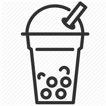 Tea Milk Bubble Drink Icon Cold Beverage
